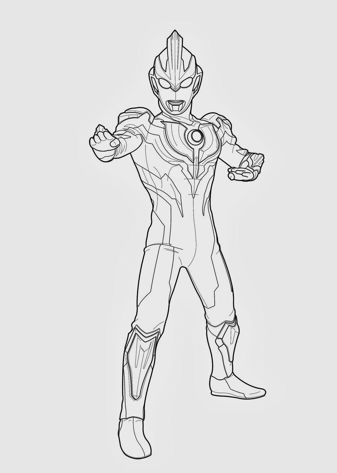 Contoh Gambar Mewarnai Gambar Ultraman  KataUcap