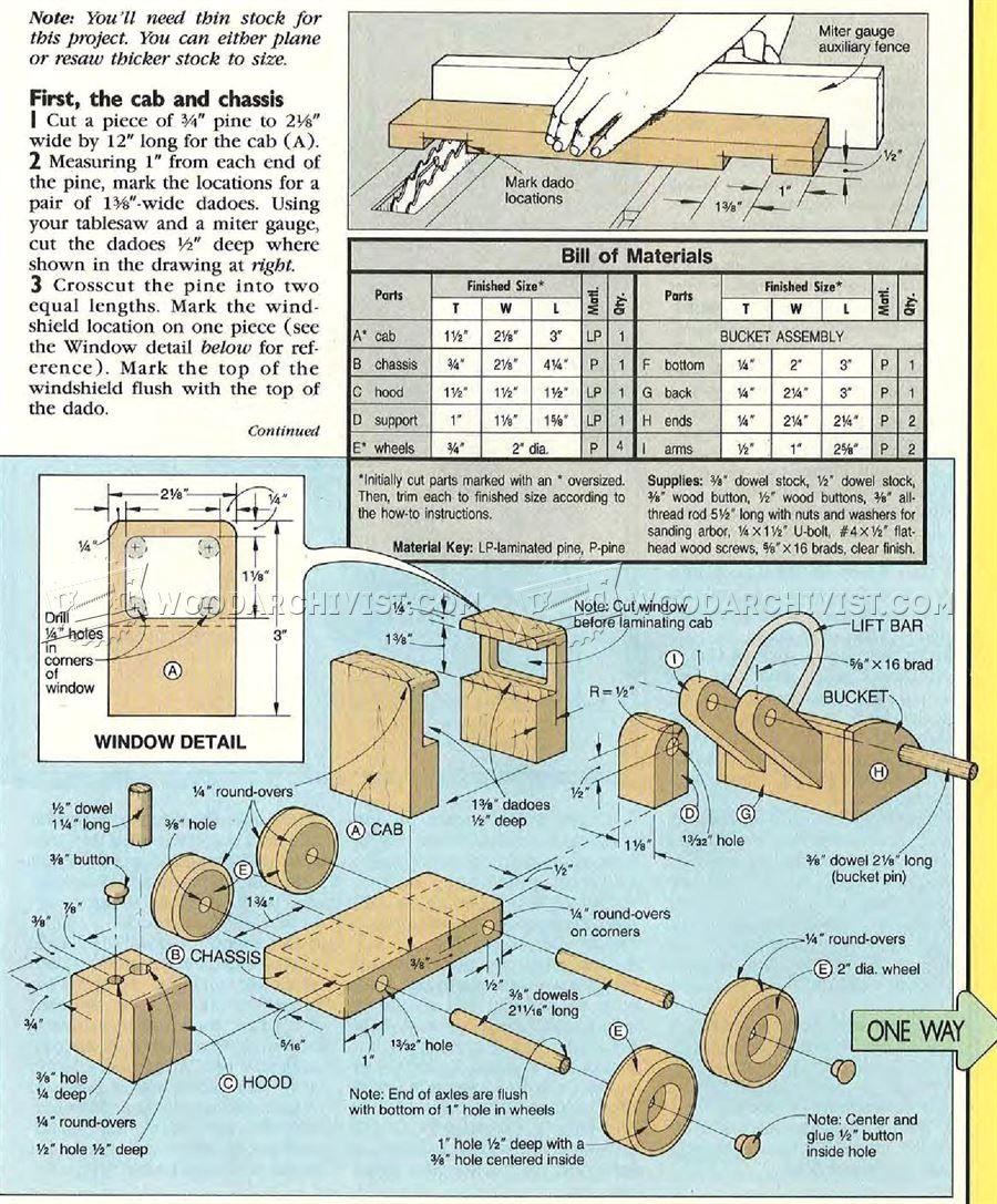 2659 wooden front end loader plans - wooden toy plans