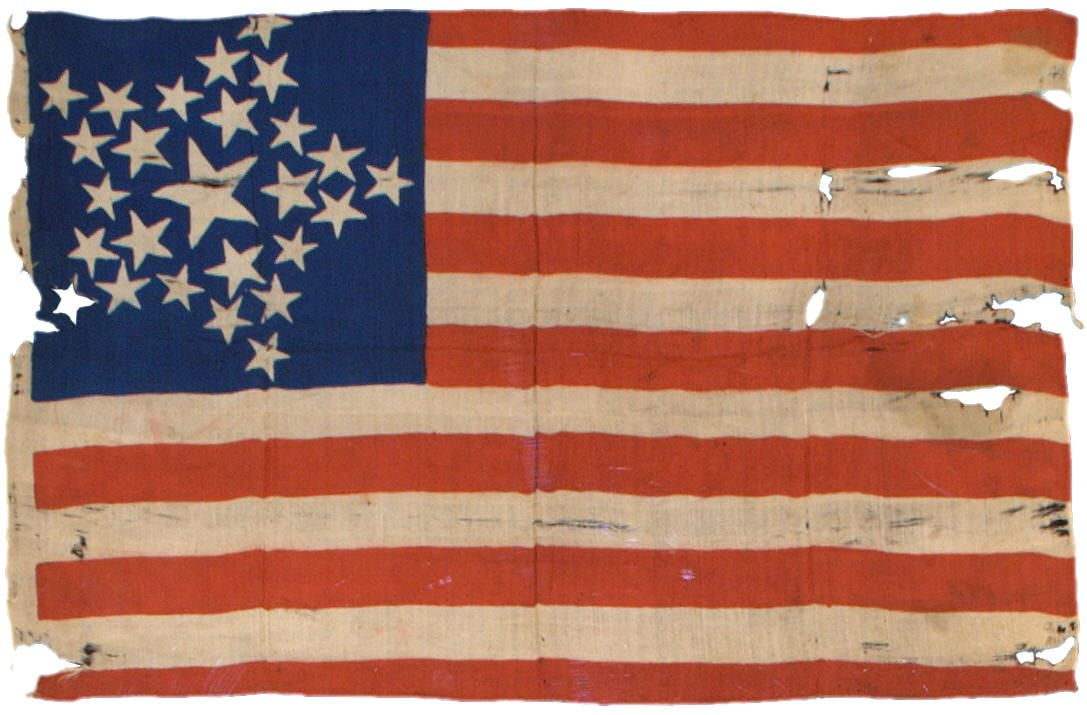 Silk Circa 1837 Despite Being Nearly Nearly 175 Years Old This Silk Flag One Of The Earliest Printed Parade Flags American Flag Vintage American Flag Flag