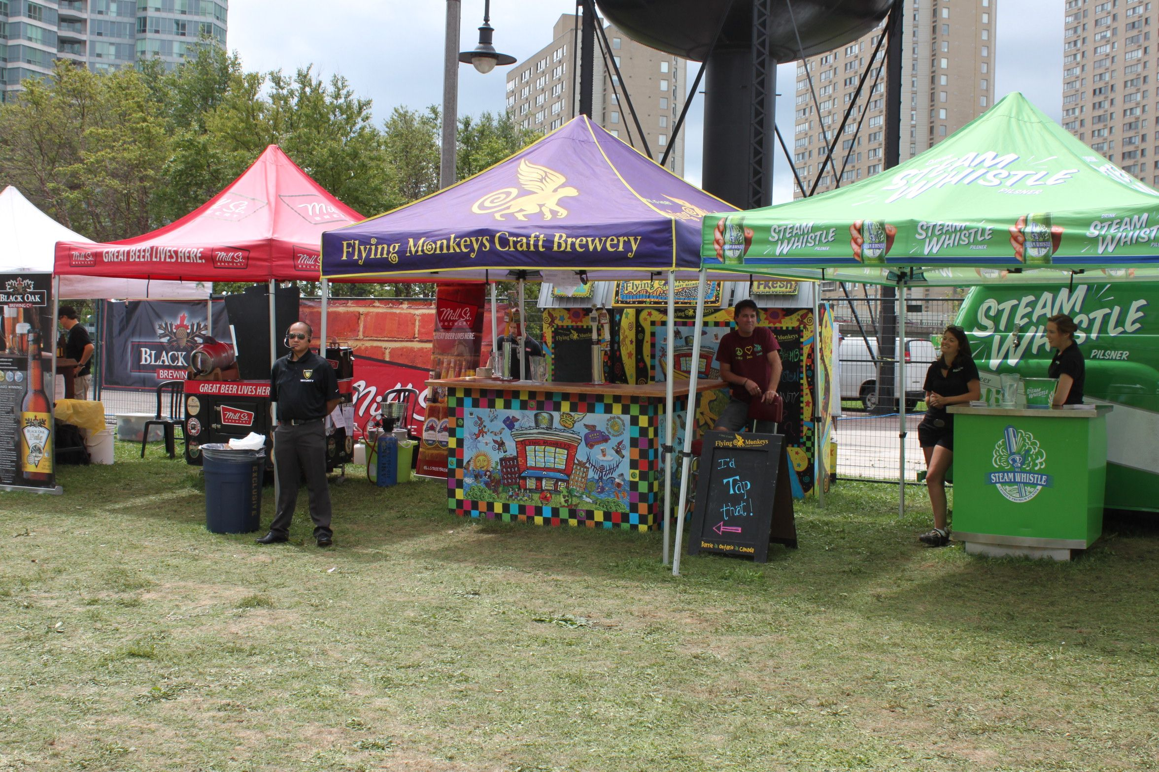Branded Tents mixed in with food carts