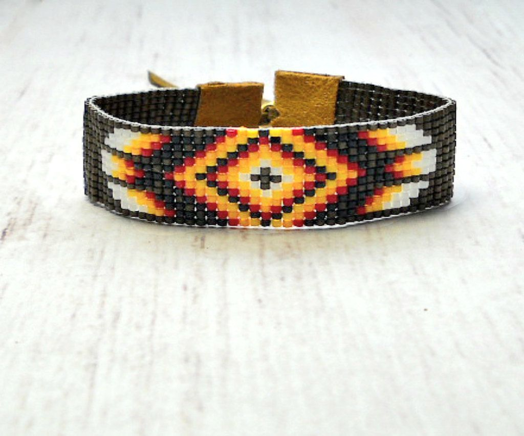Tribal boho bracelet bohemian jewelry beaded bracelet