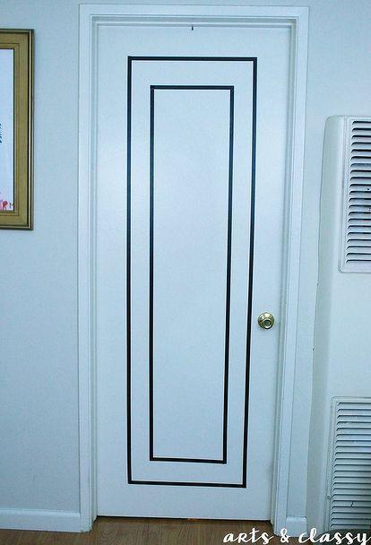 rental friendly diy door decor with washi tape, doors, wall decor