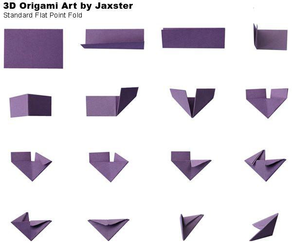 origami 3d tuto