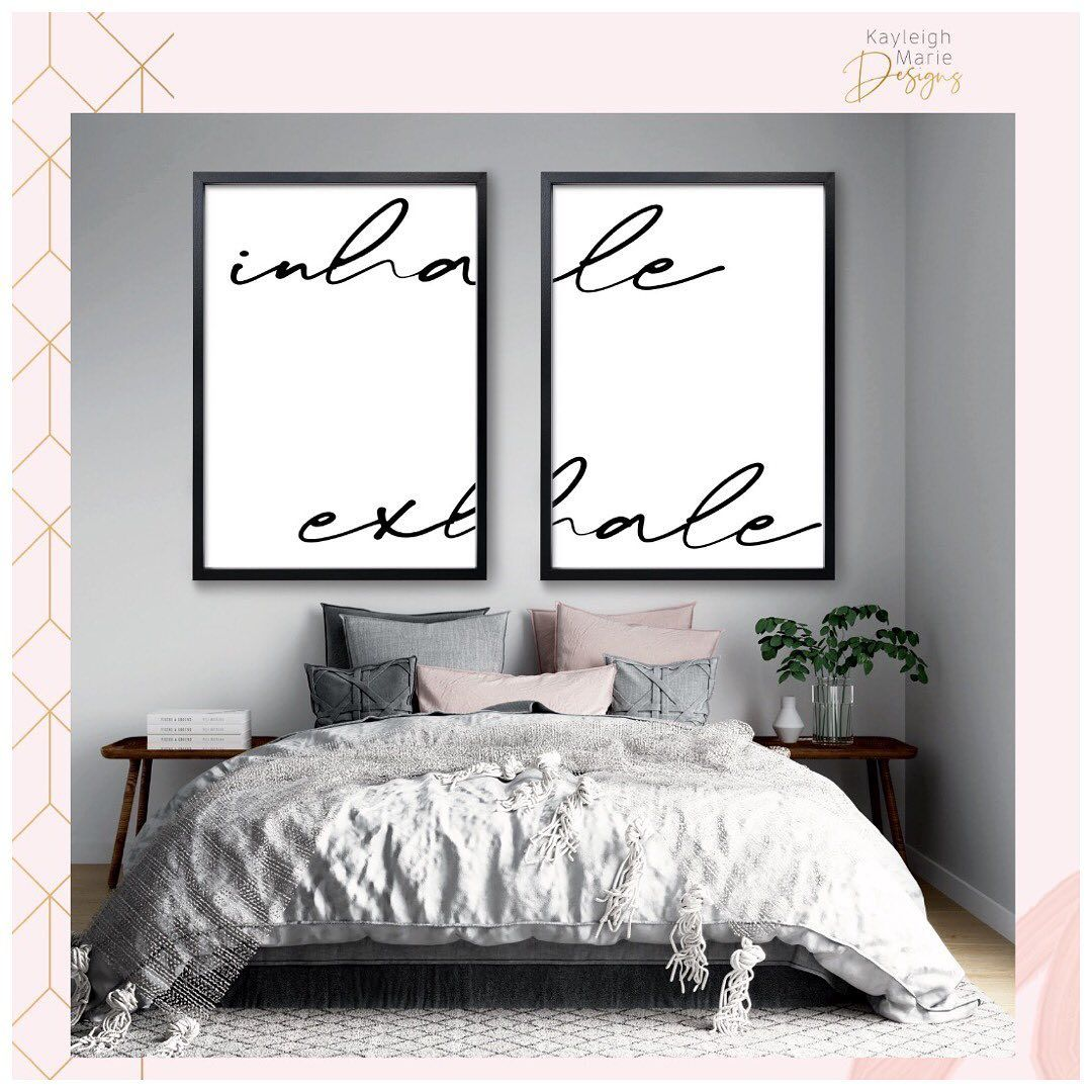 💖 Just keep inhaling & exhaling and everything will be okay 💖  Happy Wednesday!😘 . . . . . . . . . . . #inhaleexhale #bedroomprints #wallprints #bedroomideas #bedroomdecorideas #bedroomquotes #quoteprints #bedroomart #wallartprint #printset #printmakersofinstagram #kayleighmariedesigns #bedroomdecorideas #bedroomstyle #bedroominterior #bedroomaccessories #wallartdecor #wallartwork #wallartinspo #printinspiration #inhaleexhale