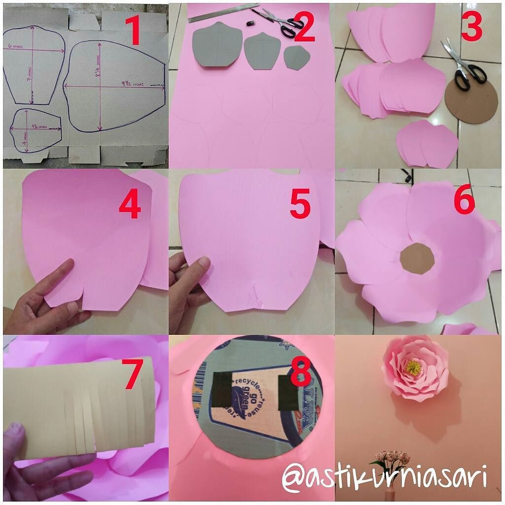Diy Cara Membuat Hiasan Bunga Dari Kertas Karton Flower