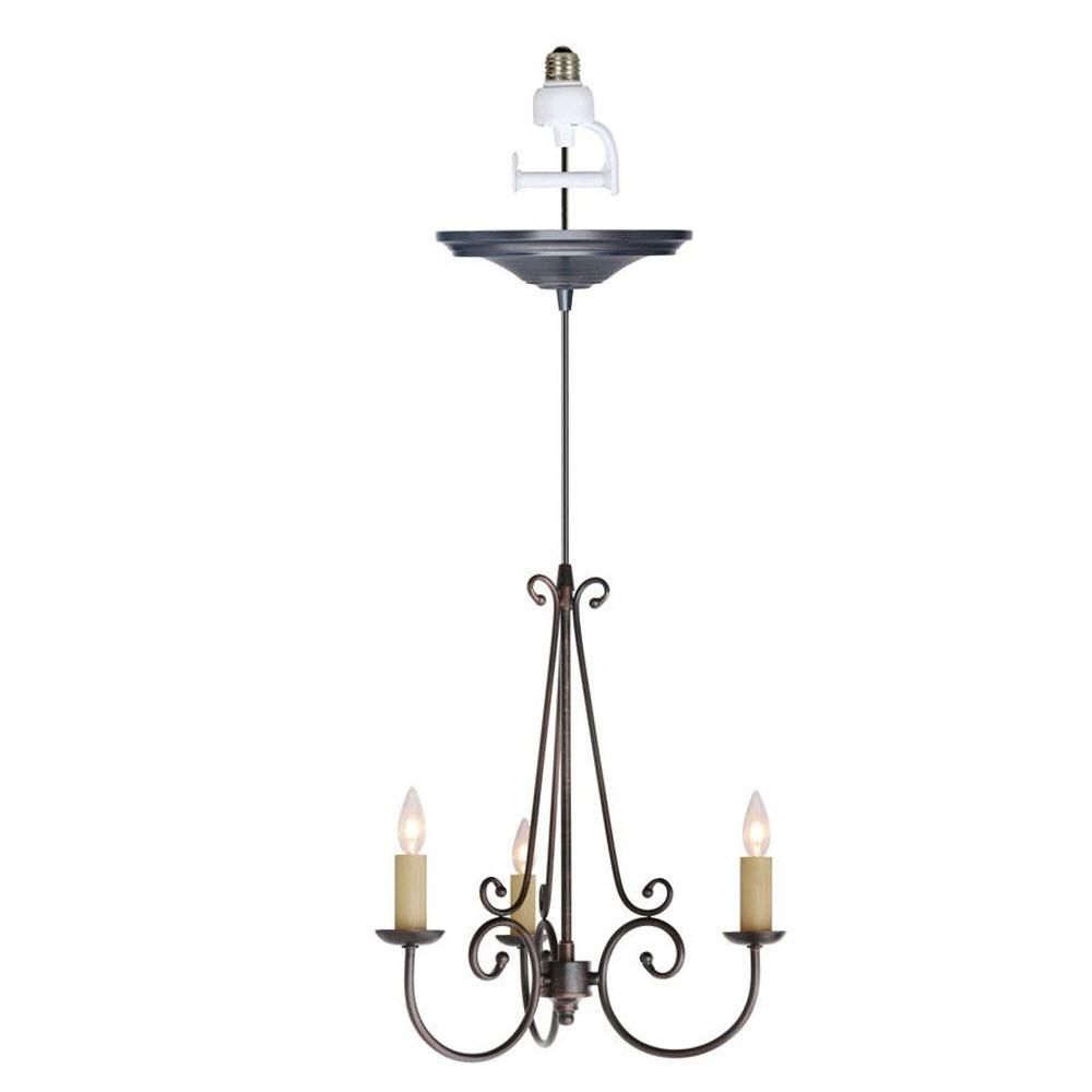 Home Decorators Collection Rogen 3 Light Oil Rubbed Bronze Small