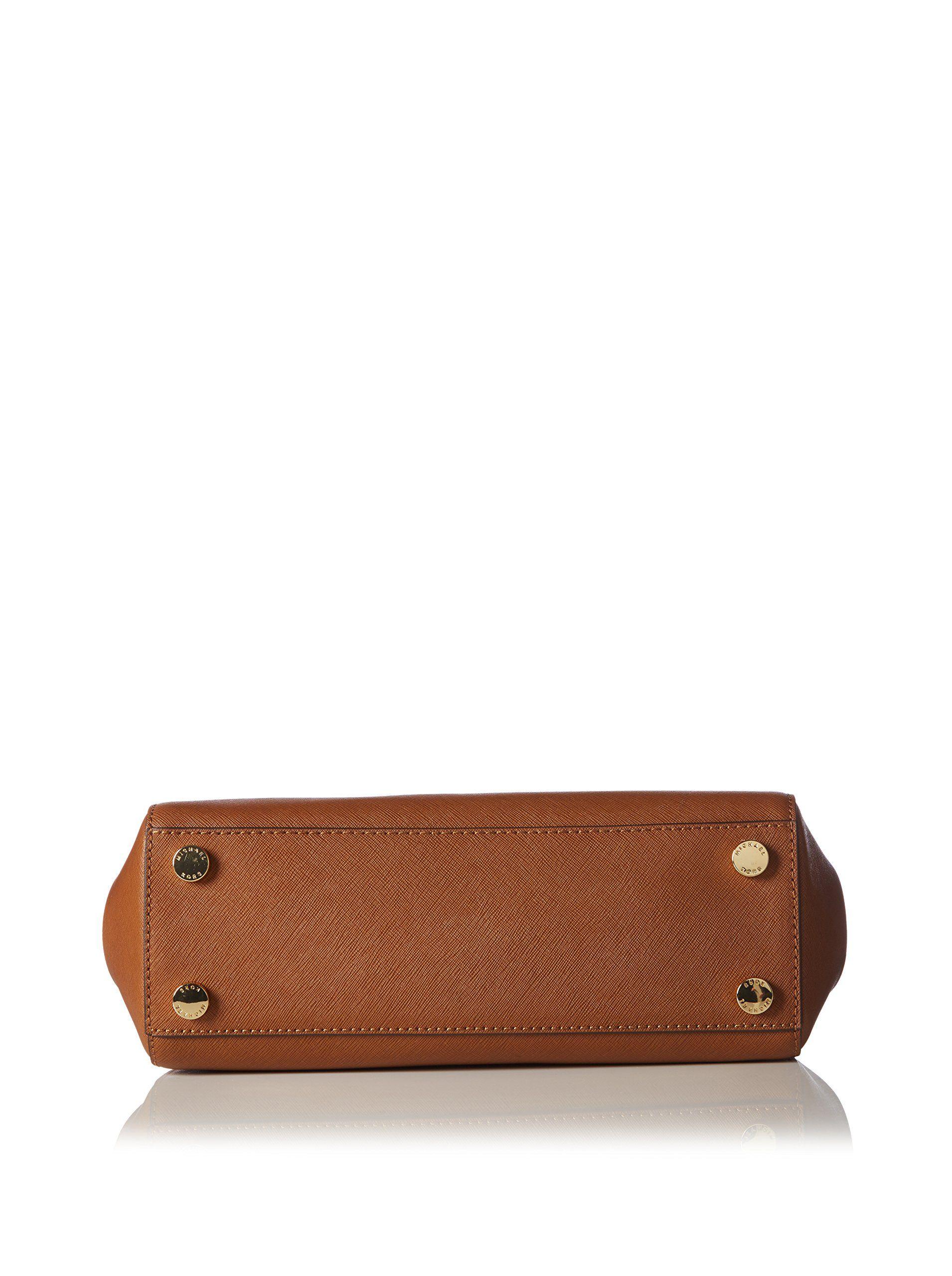 e85006cf679c Amazon.com: Michael Kors Sutton Small Saffiano Leather Satchel in Luggage:  Shoes