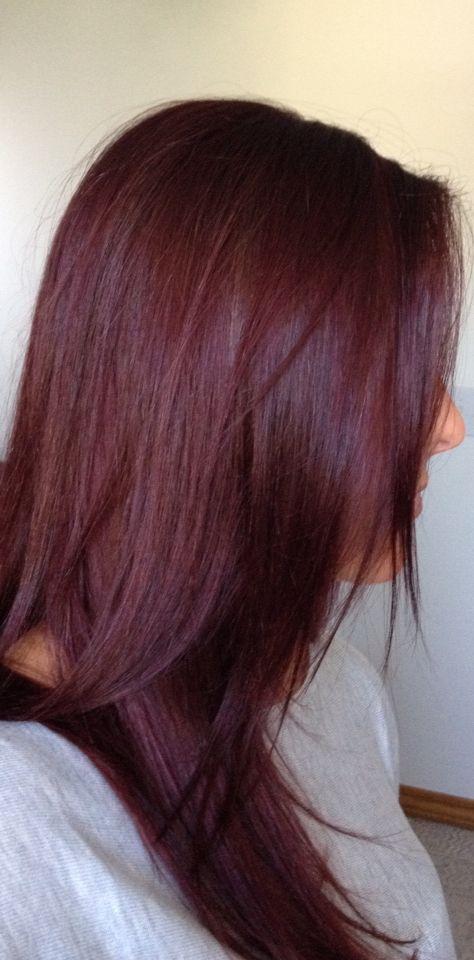 Zeer Goed voorbeeld van haarkleur 4.65, mahonie roodbruin. #WECOLOUR  #VV53