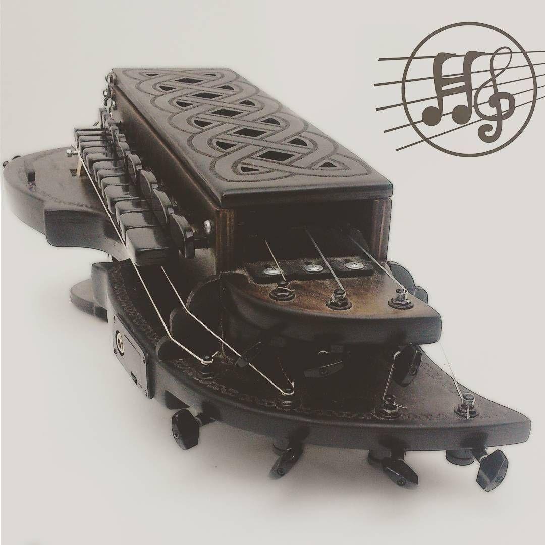 Electric Hurdy Gurdy!!! 7 strings #hobby #folk #livinghistory