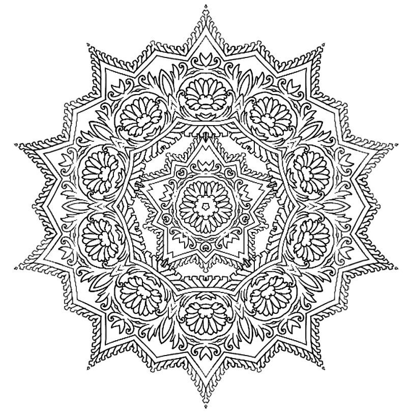 sacred mandala coloring pages - photo#31