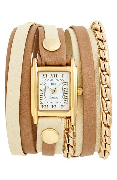 #lamercollections Sand/Stone Cable Chain Wrap Watch available at #Nordstrom