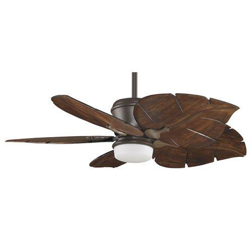 Bronze Havana Abs Blade Tropical Indoor Outdoor Ceiling: Sandella Oil Rubbed Bronze 52 Inch Ceiling Fan With Walnut