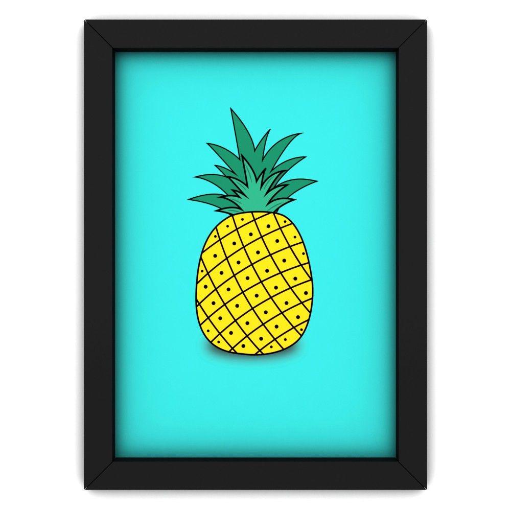 Quadro Decorativo De Parede Abacaxi Pop Art Design Quadros  ~ Imagens Para Quadros De Quarto Para Imprimir Abacaxi