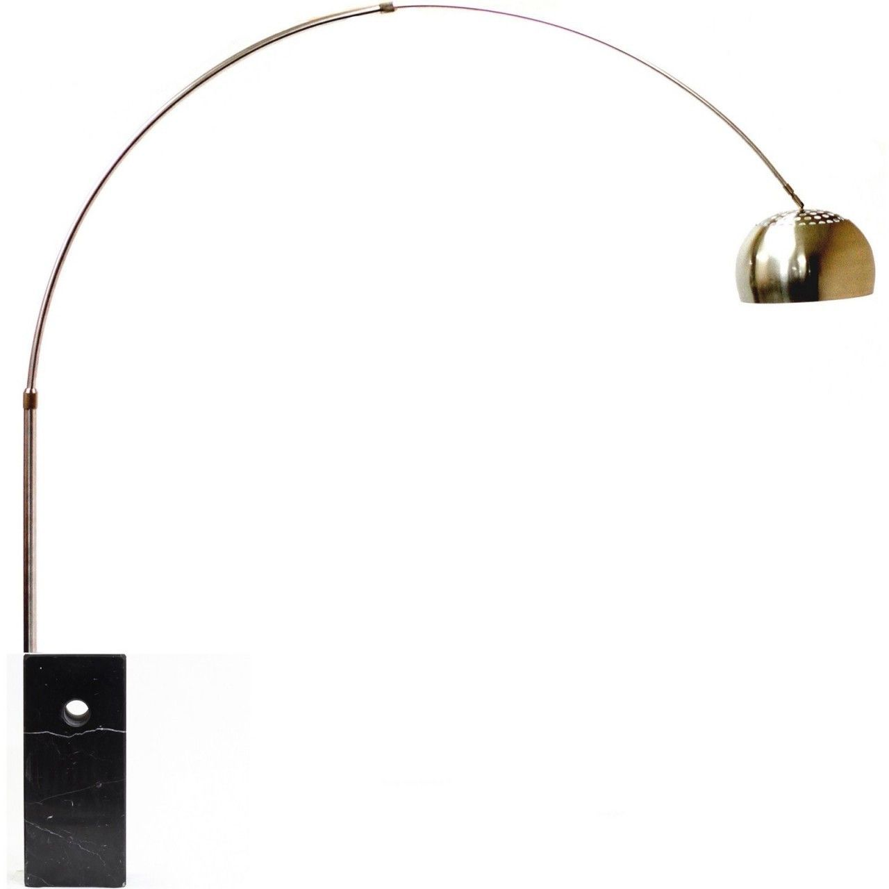 Arco Lamp Square Black Marble Base Arco Lamps Black