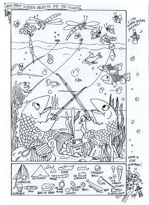 hidden picturecoloring page summer