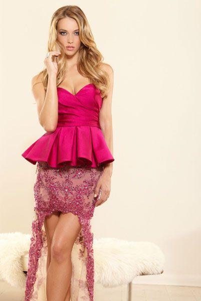 Вечернее платья розового цвета фото