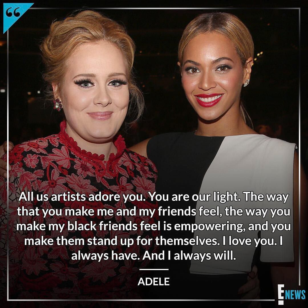 Adele Has Always Been A Loyal Member Of The Beyhive And She