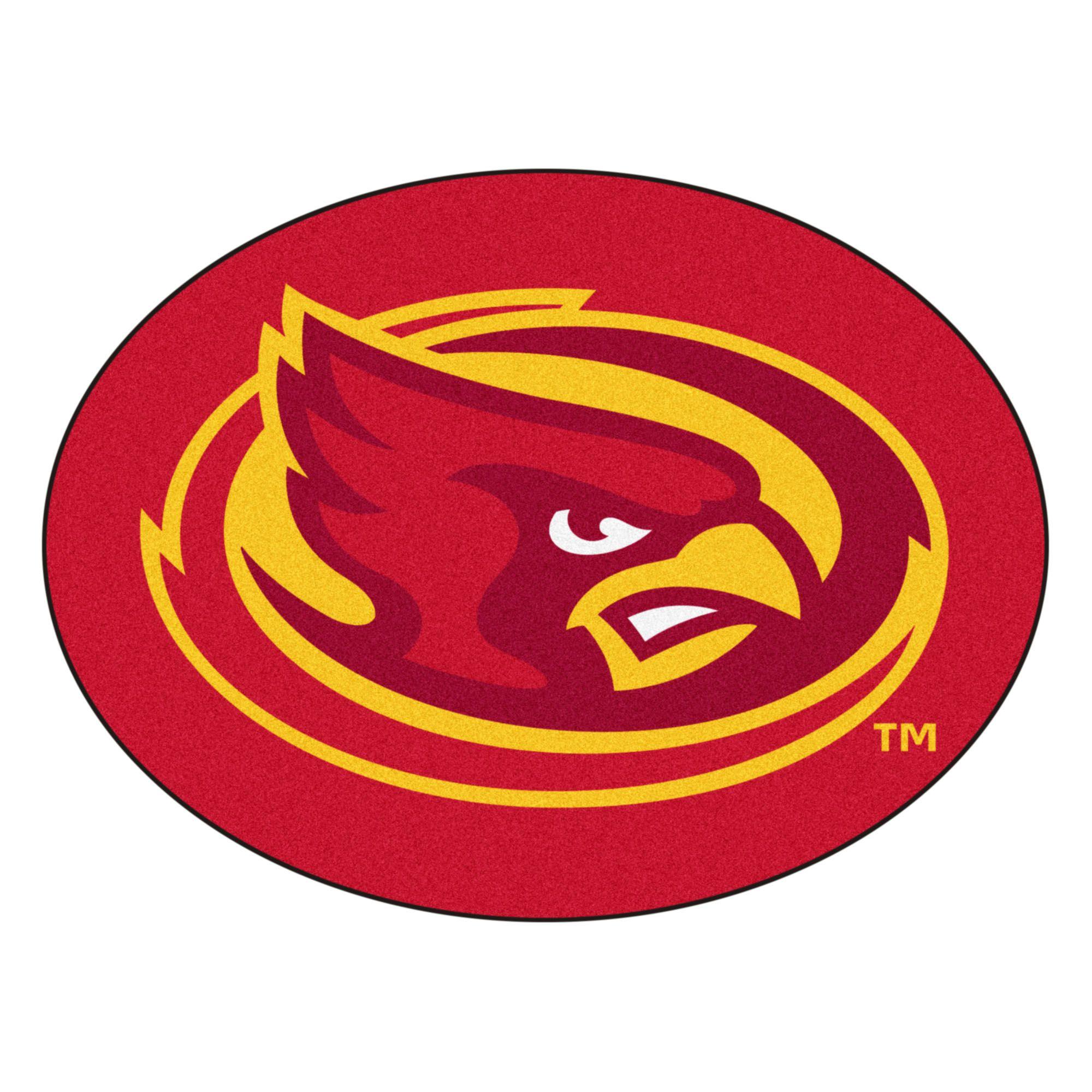 Ncaa Iowa State University Cyclones Mascot Novelty Logo Shaped Area Rug In 2020 Iowa State Cyclones Iowa State University Iowa State