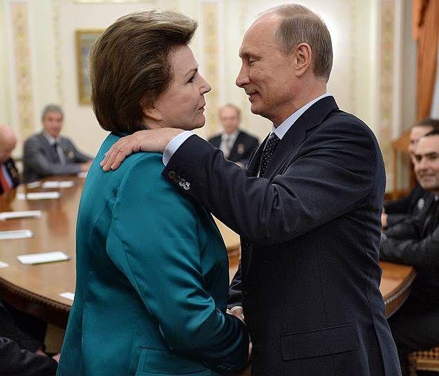 Картинки по запросу Валентина Терешкова и Путин