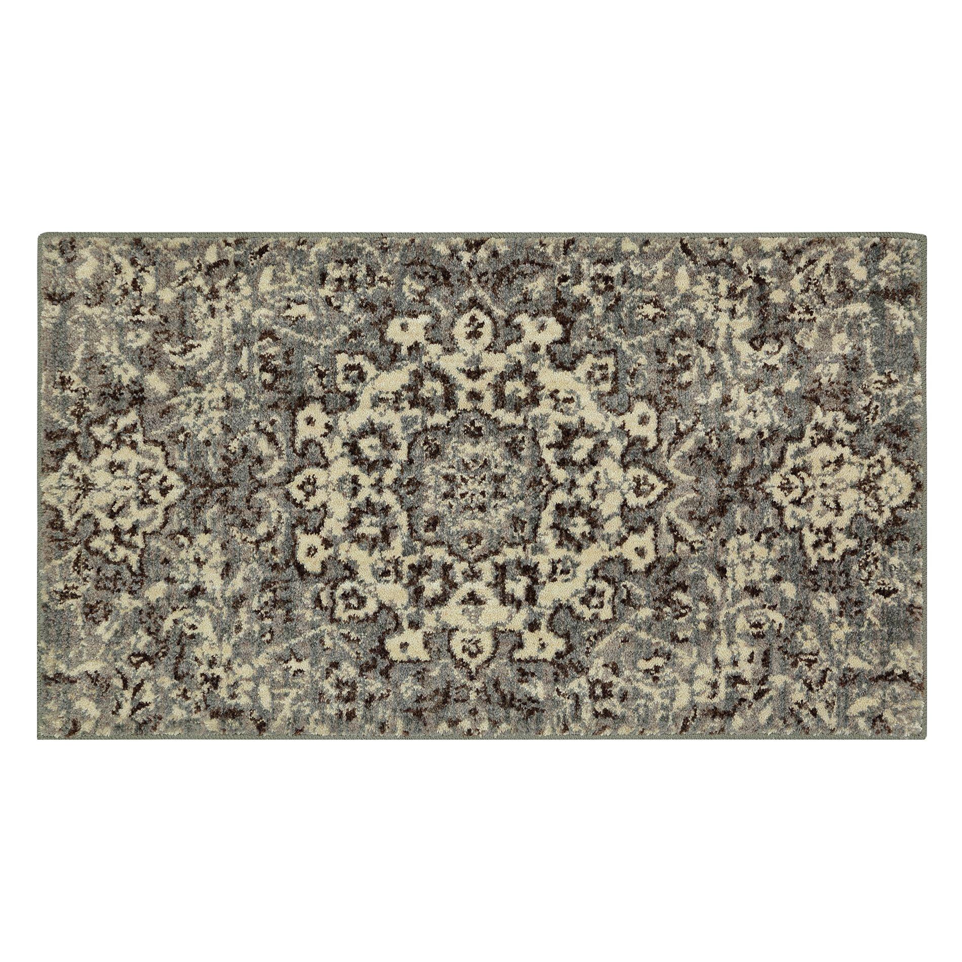 Mohawk grey medallion stone area rug
