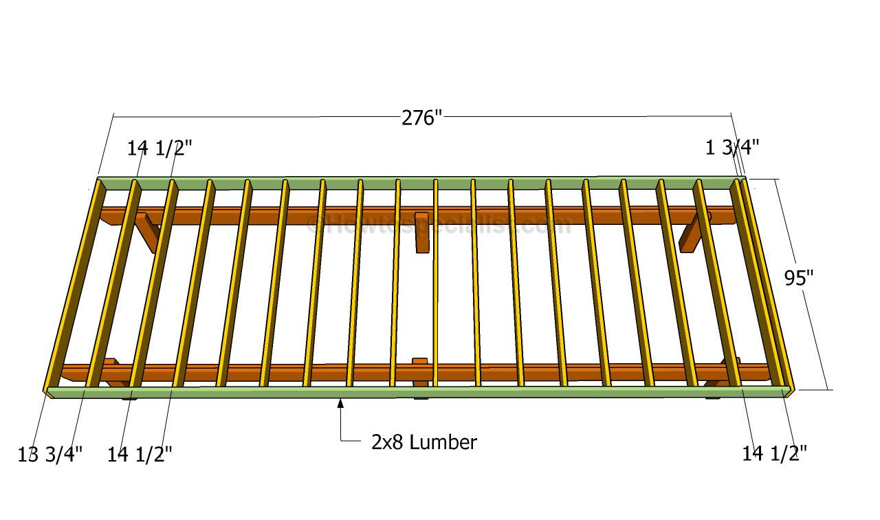 How To Build A Front Porch Howtospecialist How To Build Step By Step Diy Plans Building A Deck Frame Deck Building Plans Deck Framing