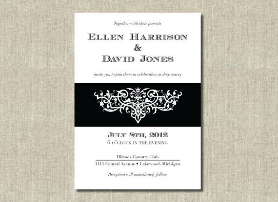 black tie wedding invitation ideas tjegah invitation templates - Black Tie Wedding Invitations