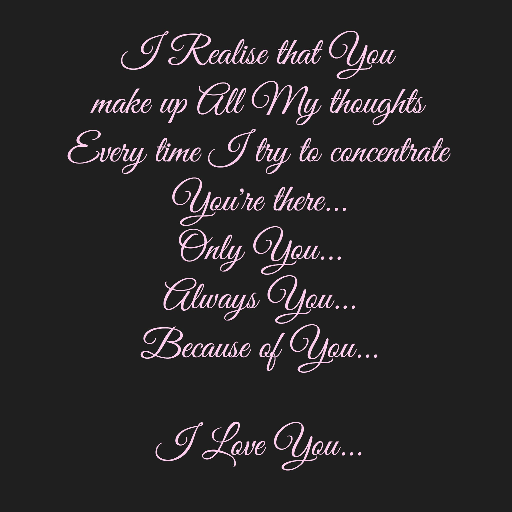 I Love You Because Quotes Only Youalways Youbecause Of Youi Love You You're