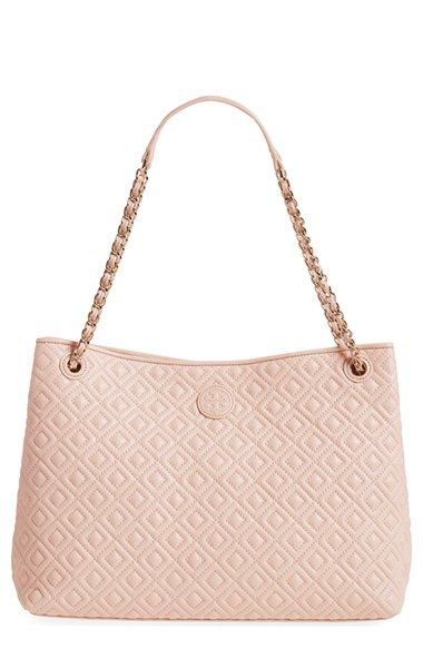 58bc625a6e0 Tory Burch  Marion  Diamond Quilted Lambskin Leather Tote available at   Nordstrom