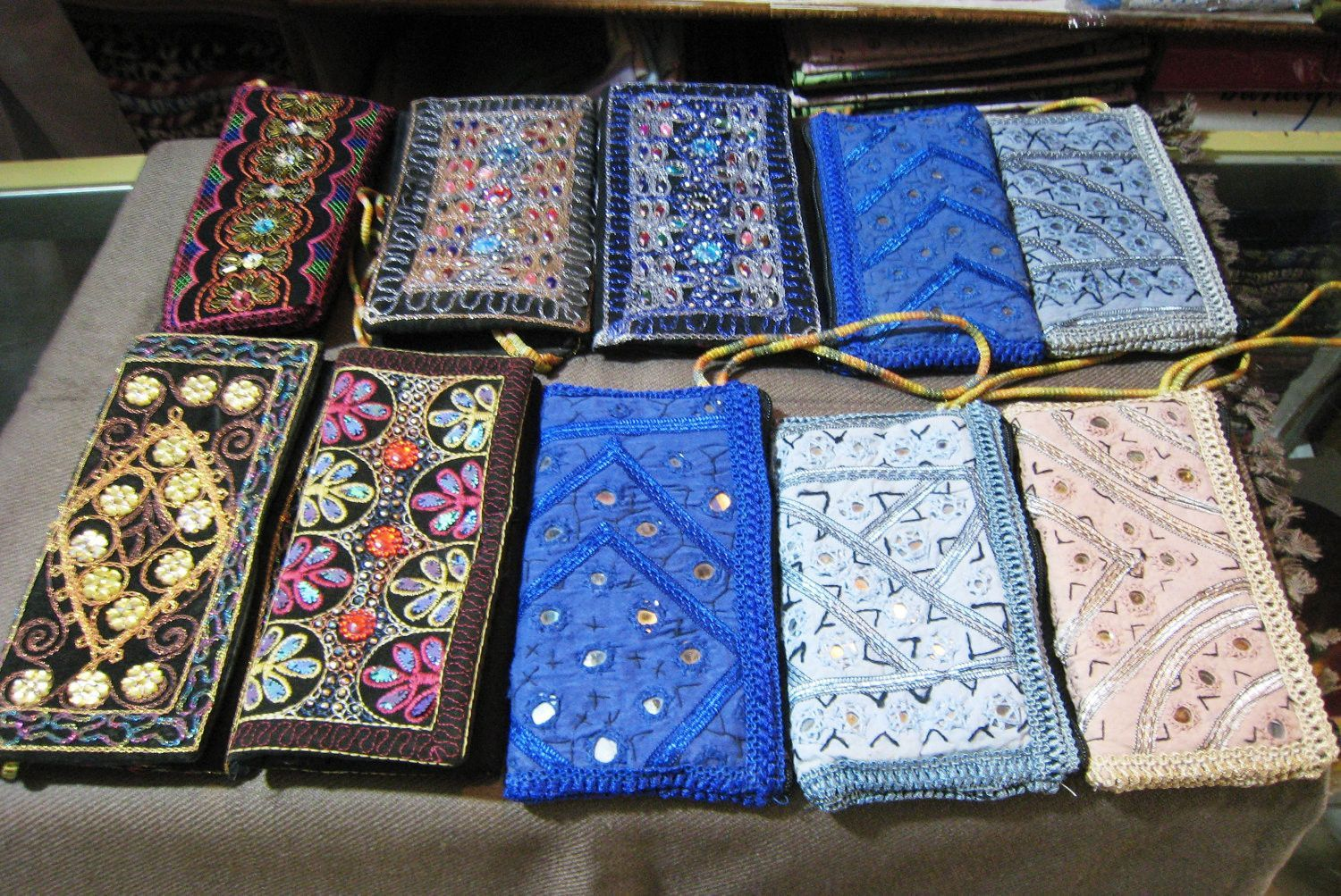 9e18d2a5642 WOMENS LADIES TRADITIONAL embroidered clutch bag hand embroidery ...