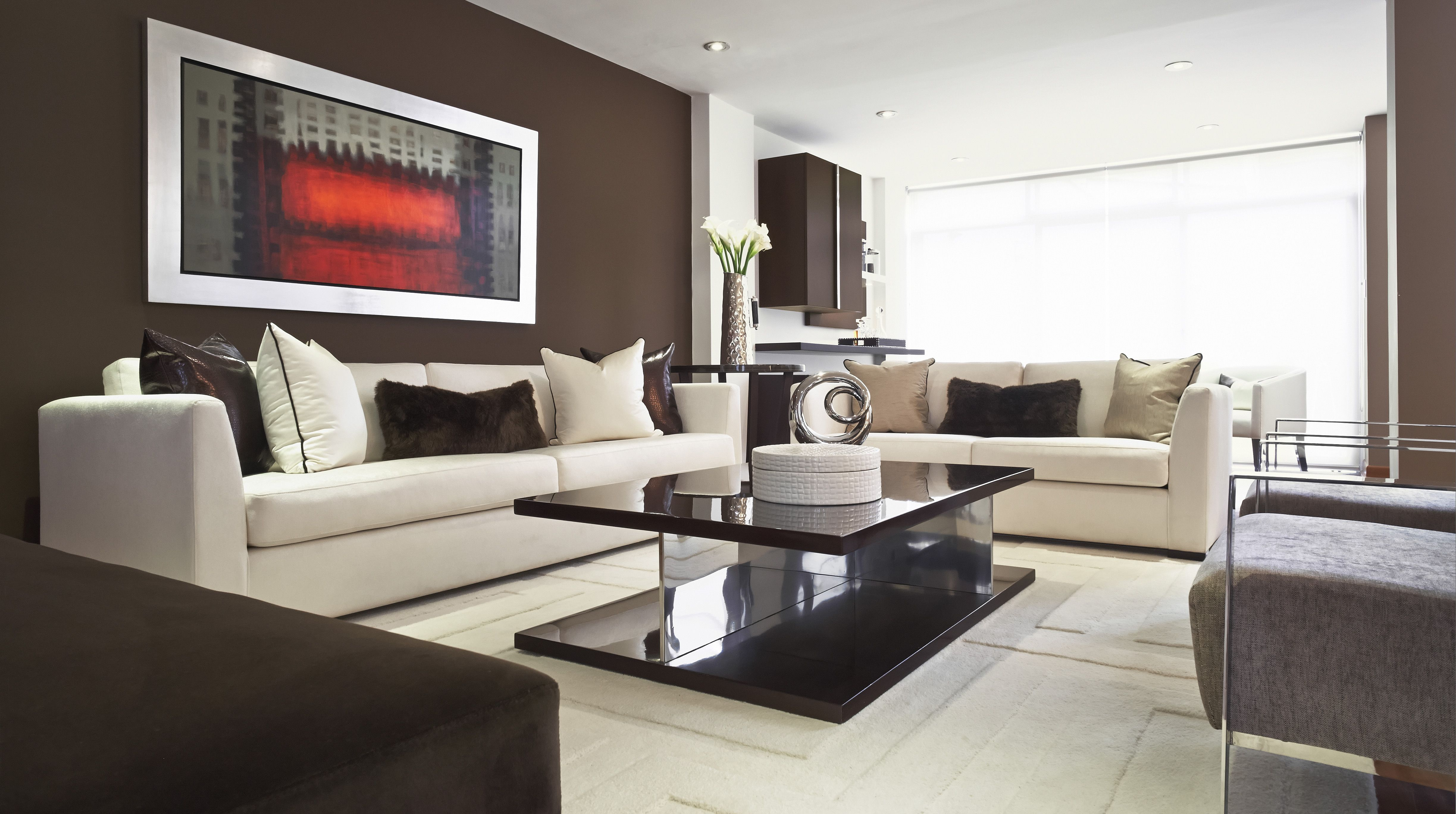 Sala principal de nuestro proyecto en surco lima sof for Diseno de interiores lima