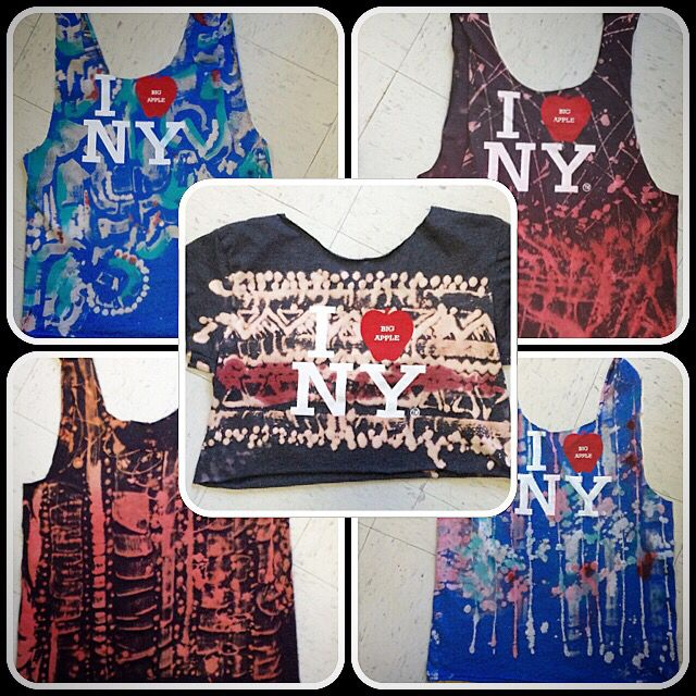I ❤️NY designs for @afropunk  #bleacheddesign #I❤️NY #style #bespoke #oneoff #swag #tanks #croptop #music #art #brooklyn #festival #textile