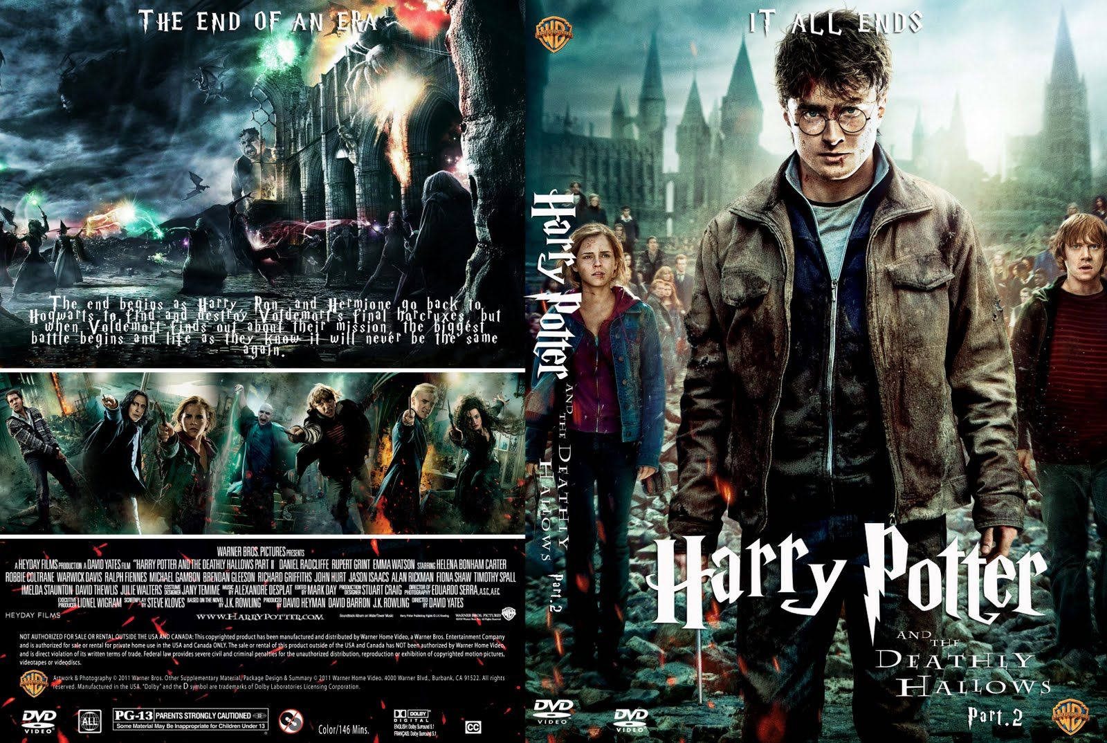 harry potter and the deadly hallows part 2 formato dvd