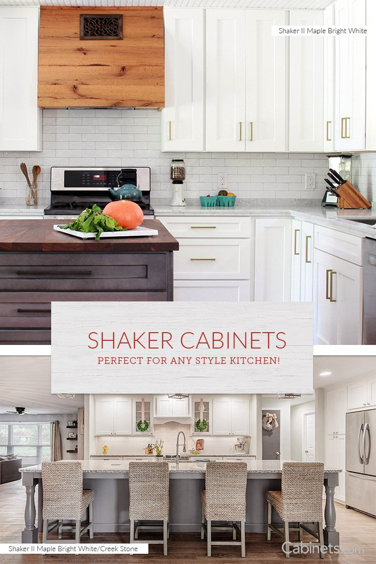 Shaker Kitchen Cabinets Are So Well Liked Because Of Their Clean Lines And Classic Look Kitchen Cabinet Styles Kitchen Cabinet Design Timeless Kitchen Cabinets