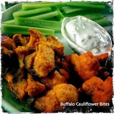 Buffalo Cauliflower Bites w. Yogurt Gorgonzola Dip