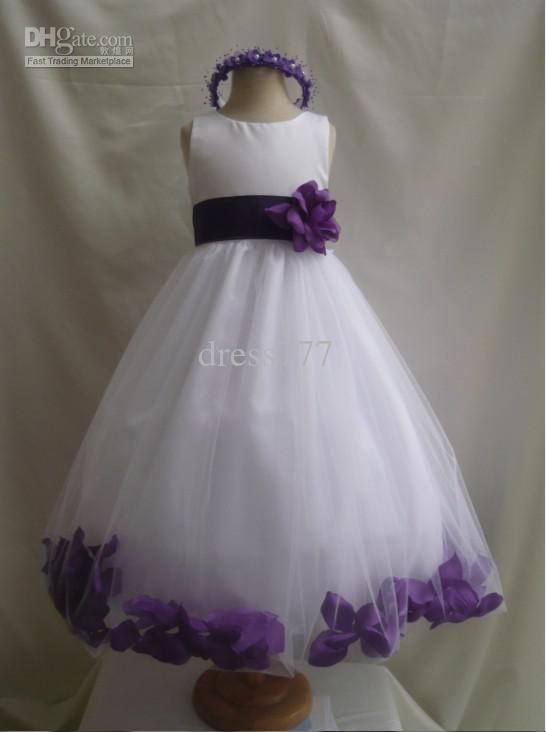 purple and white wedding dress white purple wedding bridesmaid infant toddler pageant dancing flower