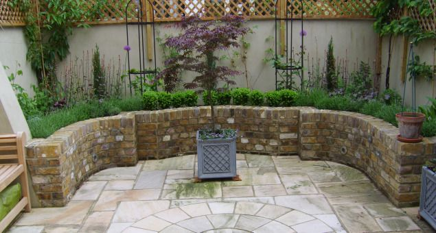 Tiny courtyard gardens cottage victorian herb garden for French style courtyard ideas