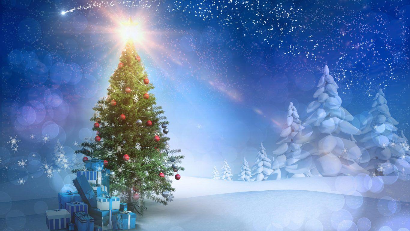 Ognature Com Tree Snow Christmas Xmas Evening Winter Magic Merry Time Snowy Hd Backgr Christmas Backdrops Christmas Photography Backdrops Christmas Wallpaper