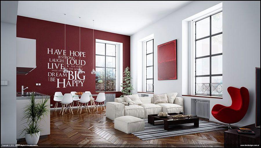 Idee per colori di pareti del soggiorno