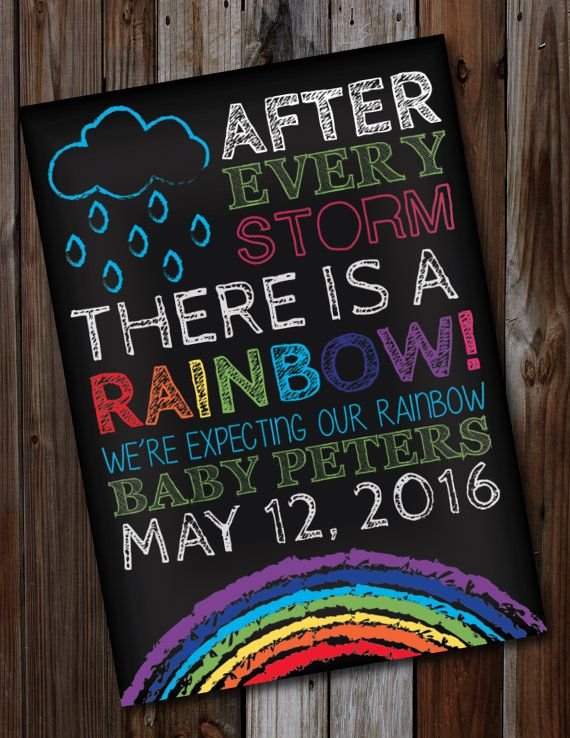 Rainbow Baby Announcement Cards Baby Shower Invites Clothing – Baby Announcement Gift Ideas