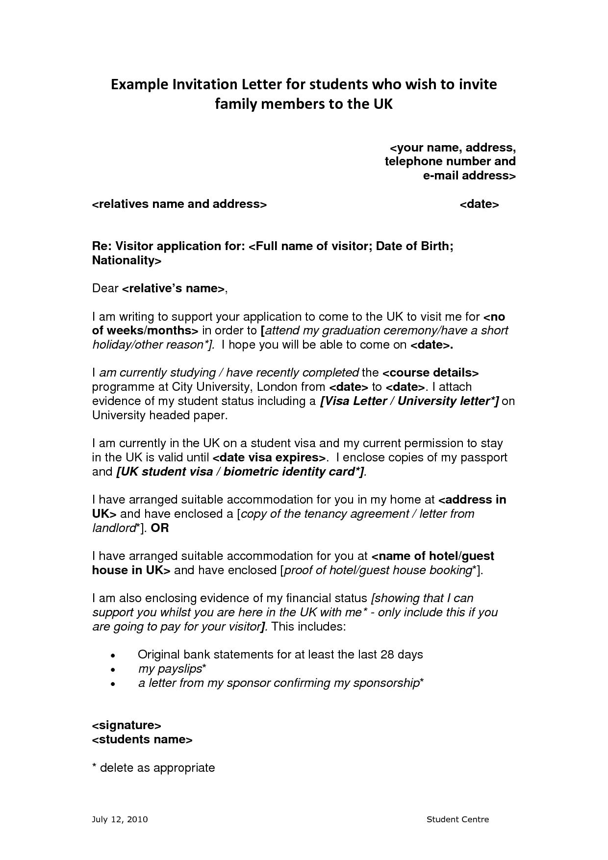 Example Of Invitation Letter For Business Visa Trumark