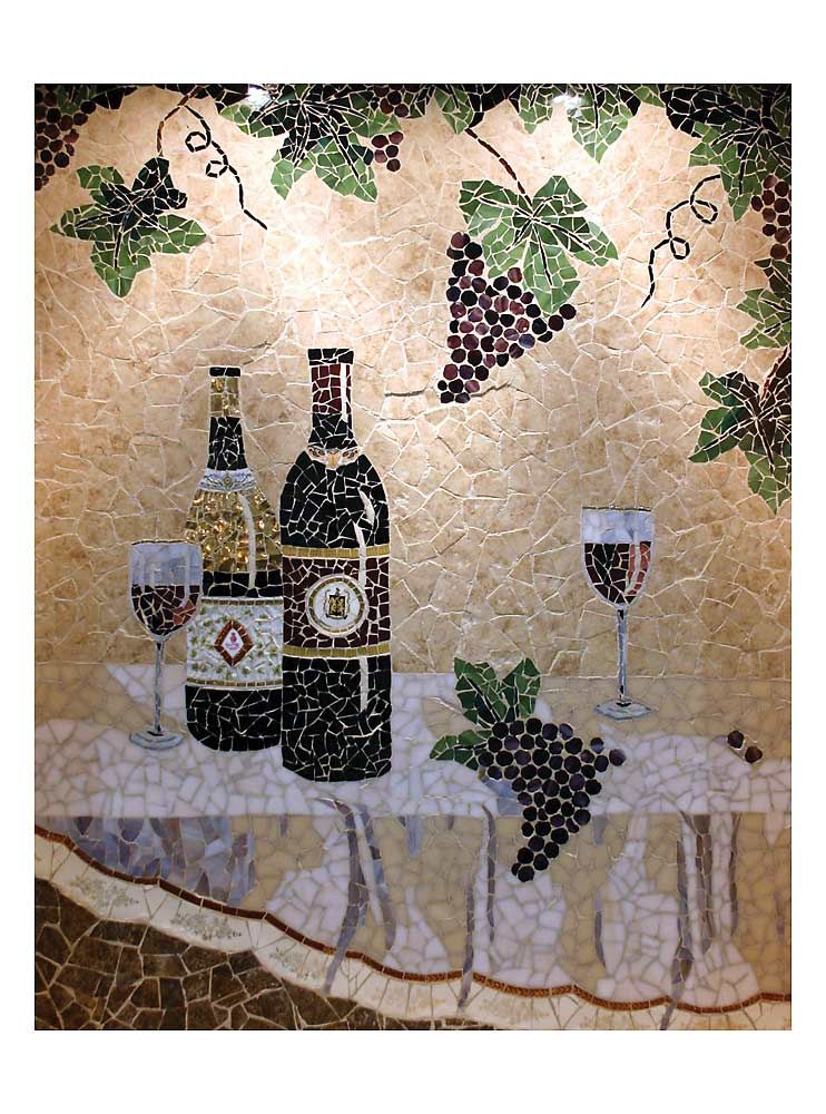I Want A Custom Wine Mosiac Tile Piece Behind Our Kitchen Stove