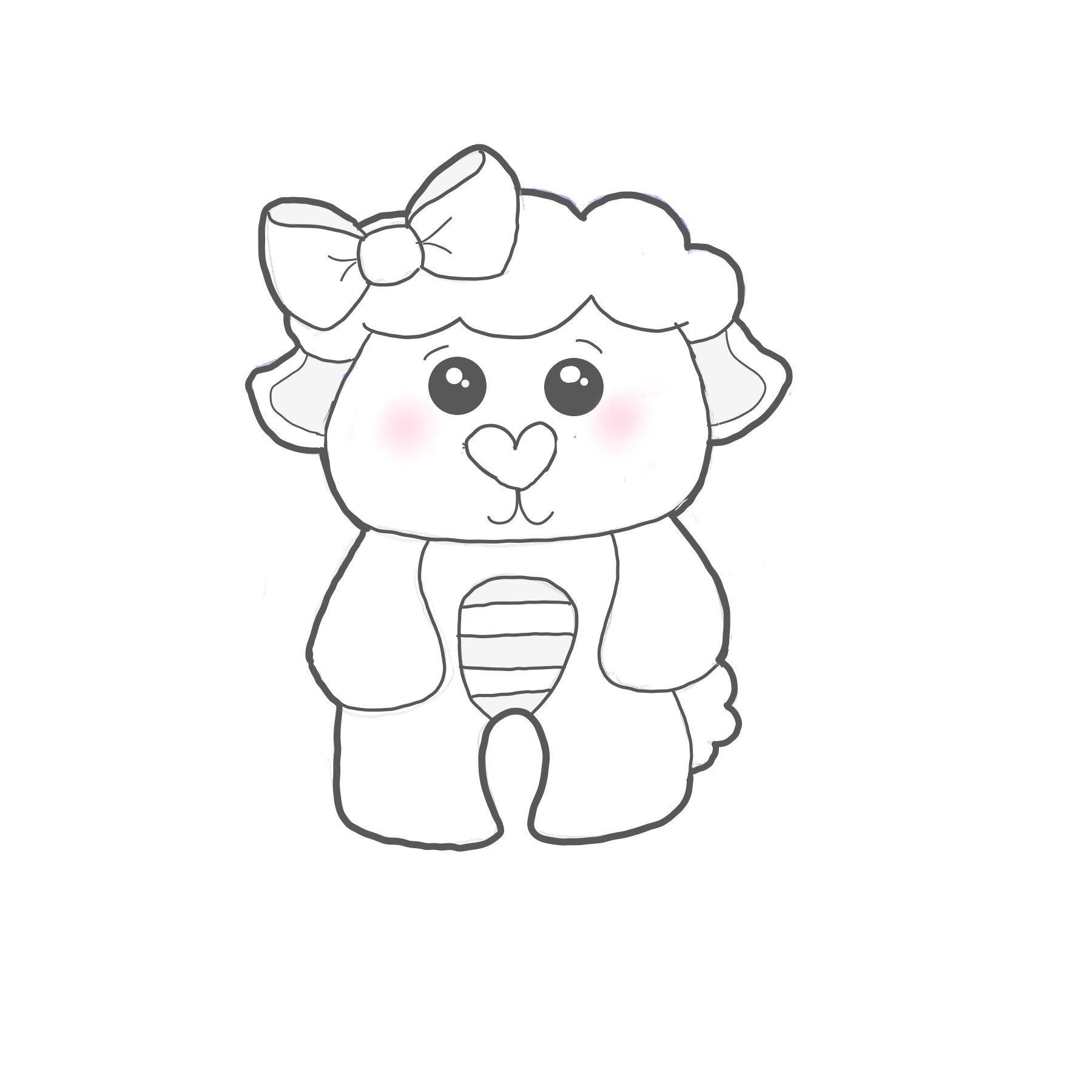 Plush Lamb Cookie Cutter