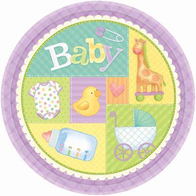 Radiant Baby Shower Plates   Http://www.ikuzobaby.com/radiant
