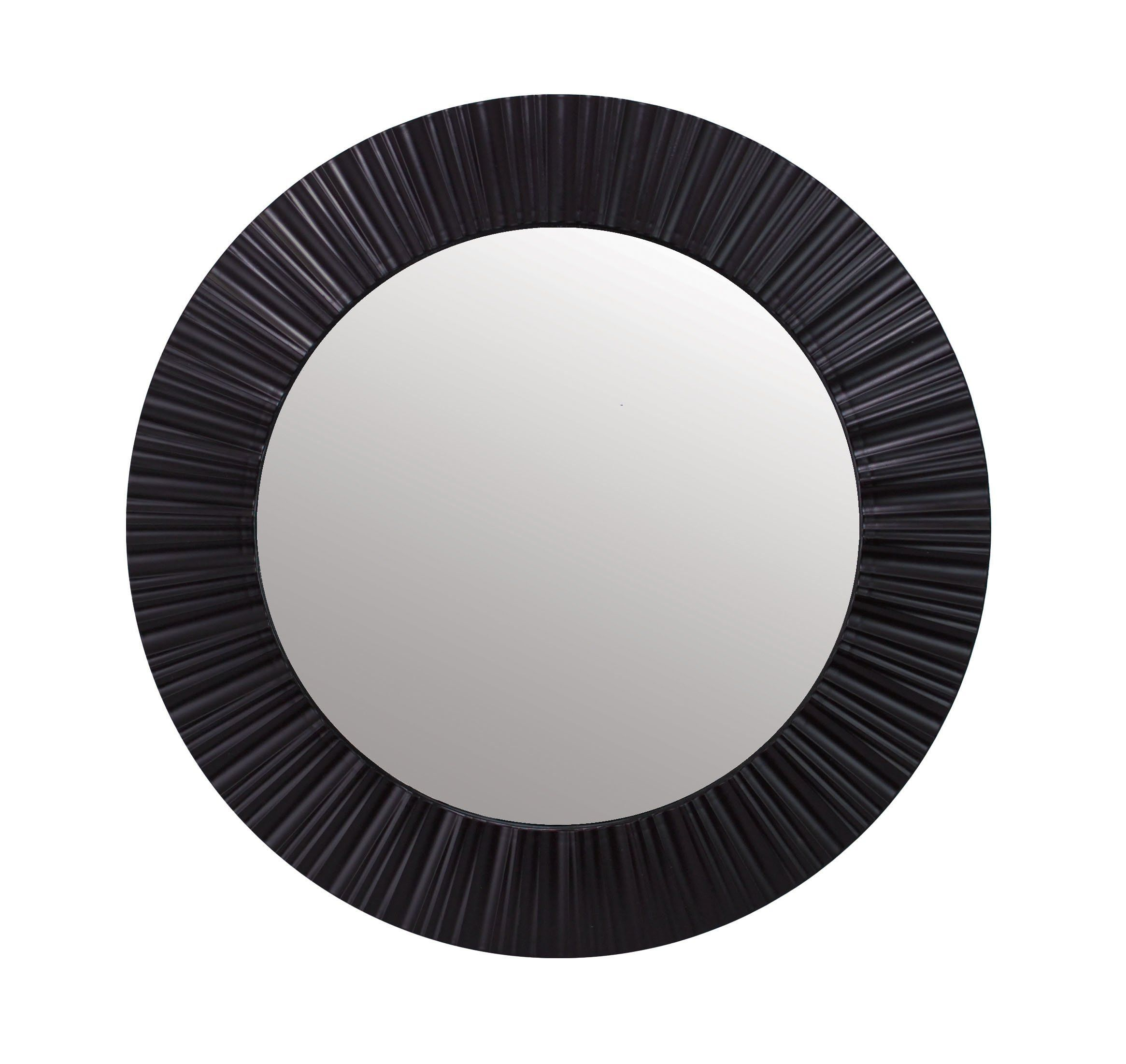 Kiera Grace Groove 20inch Round Mirror Black Click Picture To Evaluate More Details This Is An Affiliate Black Round Mirror Mirror Wall Decor Round Mirrors