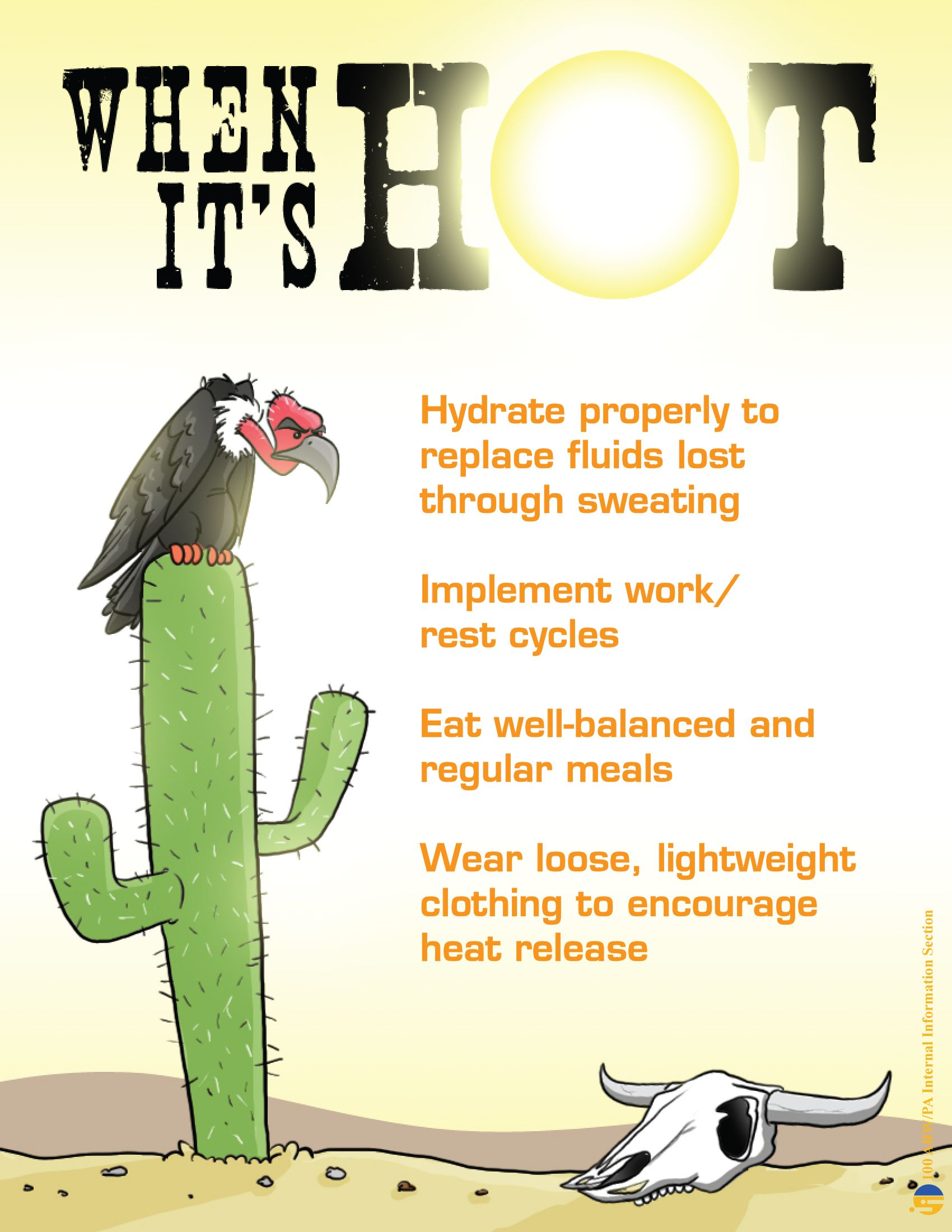 Image result for summer heat safety at work cartoons