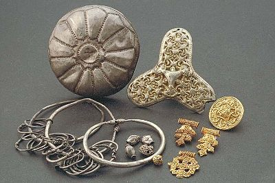 Viking age jewellery,Skåne,Sweden