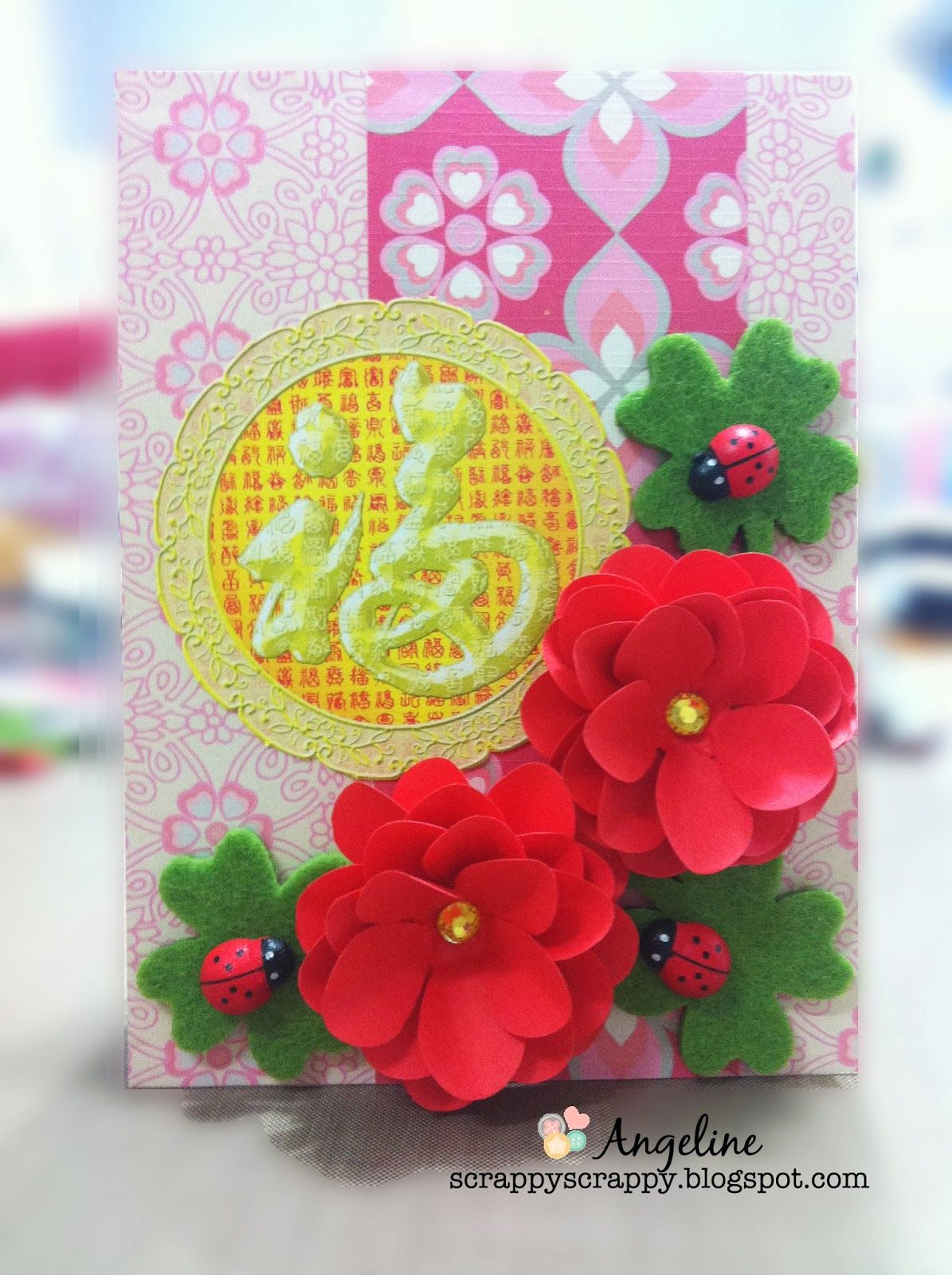 Scrappyscrappy Happy Chinese New Year Card Diy Flowers Crafty