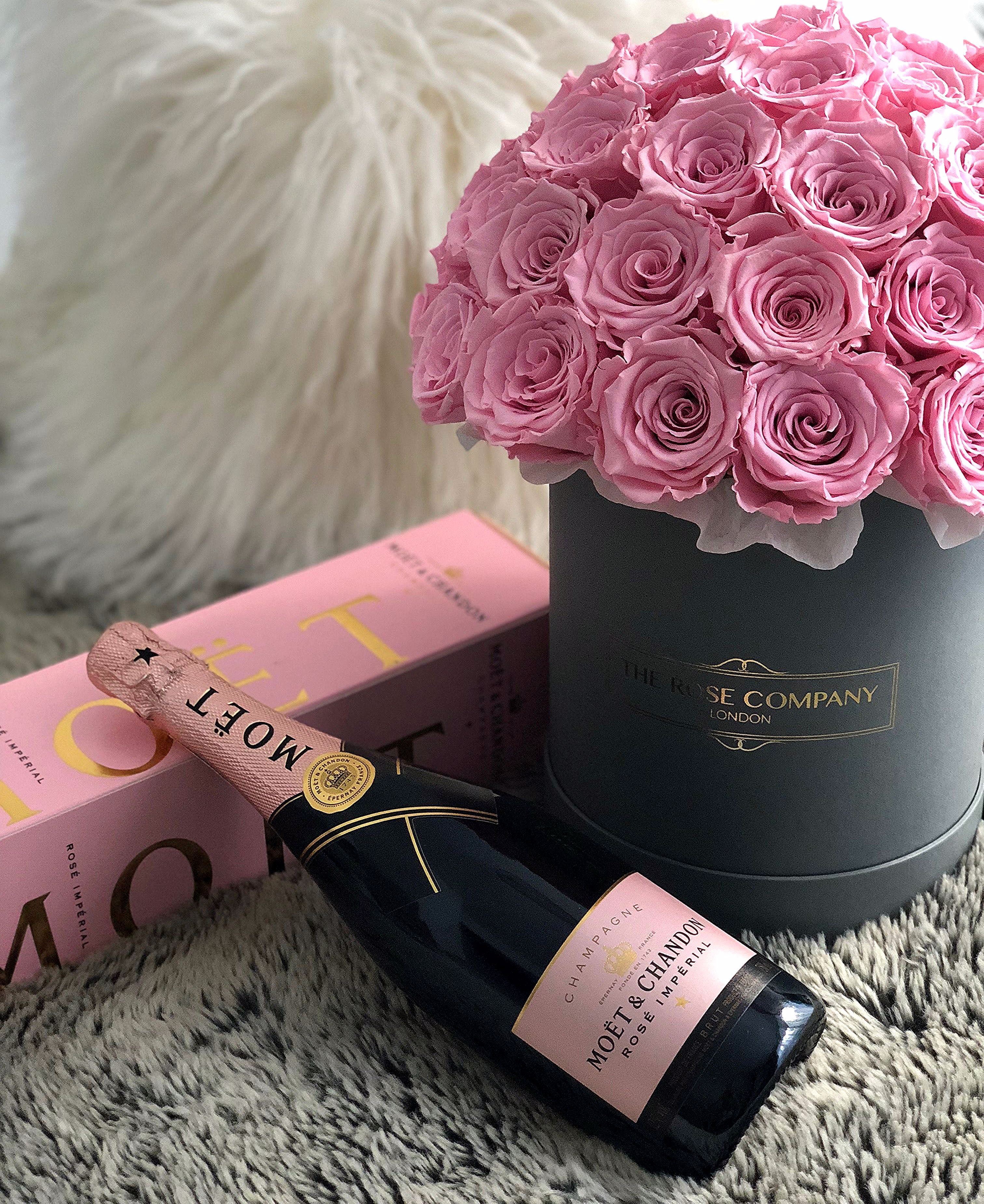 The Rose Company London Rose Box Champagne Birthday Happy Birthday Flower Birthday Flowers