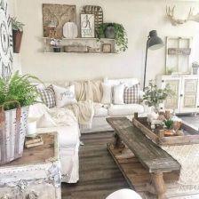 45 Comfy Rustic Farmhouse Living Room Design Idea - images