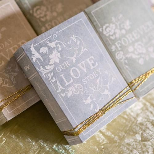 Book Themed Wedding Favor Kit (Pack Of 8) #candiedwedding